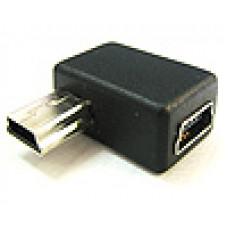 電腦轉接頭 USB轉接頭 迷你5PIN公轉迷你5PIN母 90度 A8102