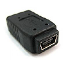 電腦轉接頭 USB轉接頭 迷你5PIN母轉迷你5PIN母 迷你5P中間接頭 USB-ADP-5F5F