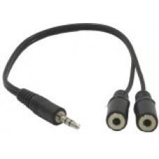 【大林電子】3.5mm音源分接線 1分二 25cm可以接兩組耳機或喇叭