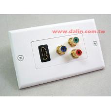面板型 壁座 HDMI + 3RCA HEW-103AR-US