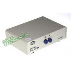 【 大林電子 】 螢幕切換器(按鍵式) 1組入2組出,多台PC共享單一螢幕 LFS-A13-3