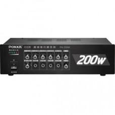 【 大林電子 】 POKKA 佰佳牌 數位公共廣播擴音器 PA-200W 綜合擴音器 最大輸出功率 200W 《 含稅免運費 》