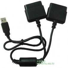 【大林電子】PS/PS2 搖桿轉USB 2對1轉接線 SY004-2